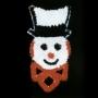 6' Sparkling Snowboy Face Building Mount