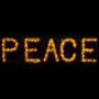 12x3' Sparkling Peace Sign Streetline