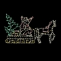 16' X 8' Silhouette Santa Sleigh & Horse Ground Mount