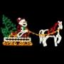 16' X 8' Sparkling Santa Sleigh & Horse Ground Mount