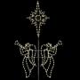 20' SIL ANGELS W/BETHLEHEM STAR