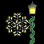 2' Silhouette Winterfest Forked Snowflake Spade Mount