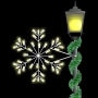2' Silhouette Deluxe Forked Snowflake Spade Mount