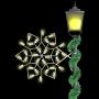 2' Silhouette Winterfest Diamond Snowflake Spade Mount