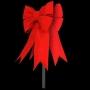 3D Red Velvet Structural Bow Tree Topper