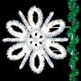 4.5' Sparkling Spiral Snowflake Pole Mount