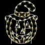 4' Silhouette Rustic Pumpkin with Hat Ground Mount