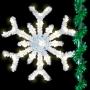 5' Sparkling Snowflake - Pole Mount