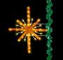 6' Enhanced Golden Starburst Pole Mount