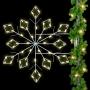 6' Silhouette Winter Lace Diamond Snowflake - Pole Mount