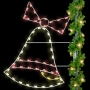 6' Silhouette Christmas Bell Pole Mount