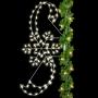 8' Sil Snowflake & Ribbons Pole Mount