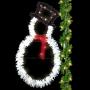 8' Sparkling Frosty The Snowman Pole Mount