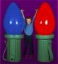 Giant Fiberglass Christmas Light Bulb Prop