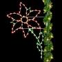 8' Silhouette Poinsettia - Pole Mount