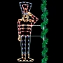 8' Silhouette Saluting Toy Soldier - Pole Mount