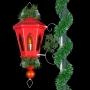Red Windsor Lantern w/Scroll - Pole Mount