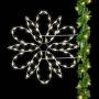 Silhouette Fantasy Spiral Snowflake Pole Mount