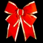 3D Red Velvet Structural Bow with Gold Trim