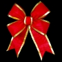 3D Red Nylon Structural Bow w/ Gold Trim