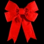 3D Red Velvet Structural Bow
