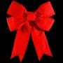 3D Red Velvet Structural Bow