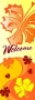 Welcome with Fall Leaves