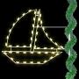 "48"" Silhouette Sailboat Pole Mount"