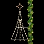 8' Silhouette Festive Tree  - Pole Mount