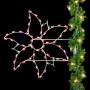 5' Silhouette Holiday Poinsettia - Pole Mount