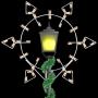 5' Silhouette Winterfest Diamond Snowflake - Post Over