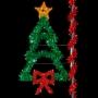 8' Sparkling Christmas Tree w/Bow - Pole Mount
