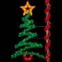 8' Sparkling Zig Zag Tree - Pole Mount