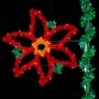 5' Sparkling Holiday Poinsettia - Pole Mount