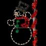 8' Enhanced Top Hat Snowman - Pole Mount