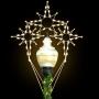 8' Silhouette Triple Bethlehem Star - Post Over