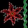 5' Enhanced Holiday Poinsettia Pole Mount