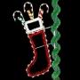 7' Enhanced Christmas Stocking - Pole  Mount