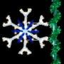4' Sparkling Economy Snowflake - Pole Mount