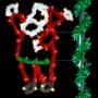 5' Sparkling Economy Santa - Pole Mount