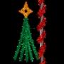 6' Sparkling Festive Tree - Pole Mount