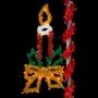 6' Sparkling Designer Candle w/Bow - Pole Mount