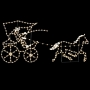 15' x 8' Silhouette Buggy w/Horse - Ground Mount