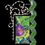 Silhouette Banner Enhancer w/Ornament - Pole Mount