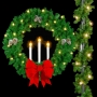 Mountain Pine Candle Wreath - Pole Mount - Signature Series