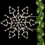 Silhouette Deluxe Winterfest Diamond Snowflake Pole Mount