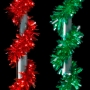 """9"""" x 18' H-Cut Colored Garland Pole Wrap w/Wire Ties"""