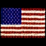 11.5' x 8' Sparkling American Flag - Building Mount