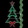 8' Enhanced Christmas Tree w/Bow - Pole  Mount