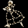 5' Silhouette Skating Woman - Building Mount